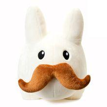 "Get ready for GIANT mustache rides with Frank Kozik's soft, plush, mustachio'd, 24"" Labbit fun. Shop: tomodatchi"