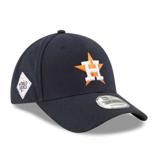 KIDS HOUSTON ASTROS 2017 WORLD SERIES SIDE PATCH 9FORTY ADJUSTABLE 3  quarter left view e0b597780ac2