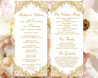 Popular Items For 50th Anniversary On Etsy Wedding Ceremony Programs Template Wedding Ceremony Programs 50th Anniversary