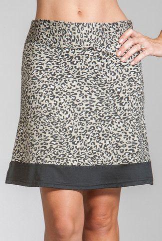 Merryl Skort  Grey Cheetah Jackie Skort Black / Black Ice Zig Zag #golf #apparel #sportsapparel #fashion #golfapparel #golffashion #golfskort #skort #skirt #golfskirt