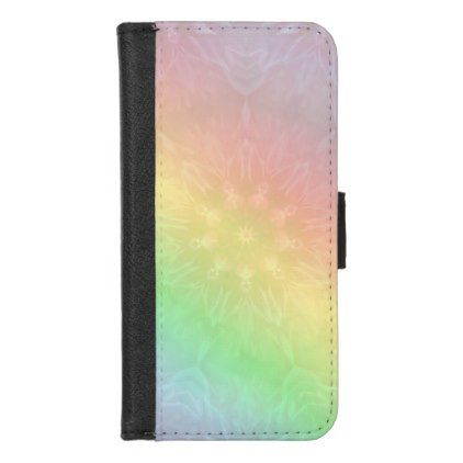 Pretty Cool Pastel Rainbow Mandala Design IPhone 8/7 Wallet Case   Girly  Gifts Special