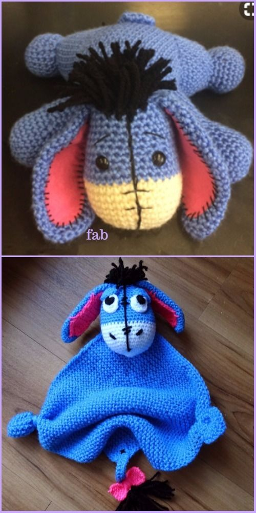 Crochet Eeyore Toys Free Patterns | Juguetes