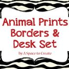 Animal Print Backgrounds, Frames, Desktop Calendar pages and Note Cards that say: From the desk of: These would fit nicely into a Safari themed classroom. $3.99