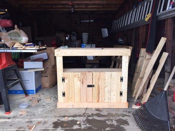 Pallet TV Stand / Cabinet Pallet Shelves