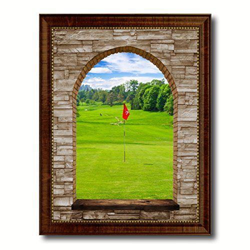 Golf Field European Landscape Arch 3D Window 23014 Giclee Print on ...