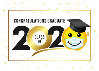 Emoji With Mask Stock Photos Royalty Free Images Vectors Video In 2020 Class Of 2020 Medical Masks Emoticon