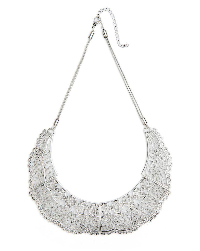 silver lace collar