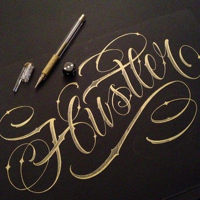 The word hustler fonts