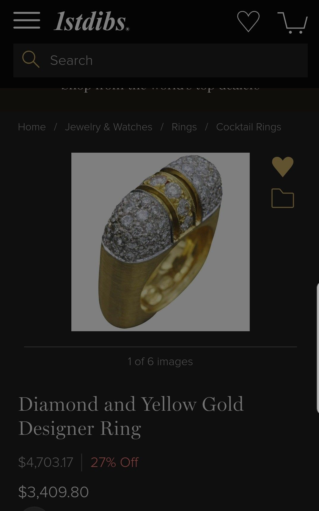 5e4a9bc7c Interesting Art Deco feel gold and diamond ring. | Anillos- Rings