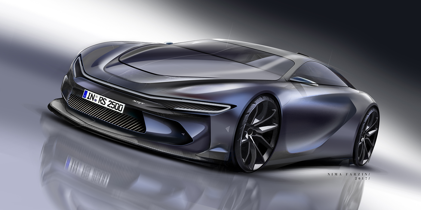 Car Rendering On Behance Future Concept Cars Concept Cars Bmw Concept