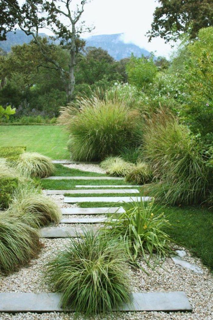 pflegeleichte Gartenpflanzen un Kiessteinen Garten Pinterest - garten pflegeleicht modern