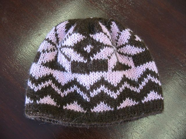 Chevron Star Double Knit Hat Pattern By Jada Coyne Knitted Hat