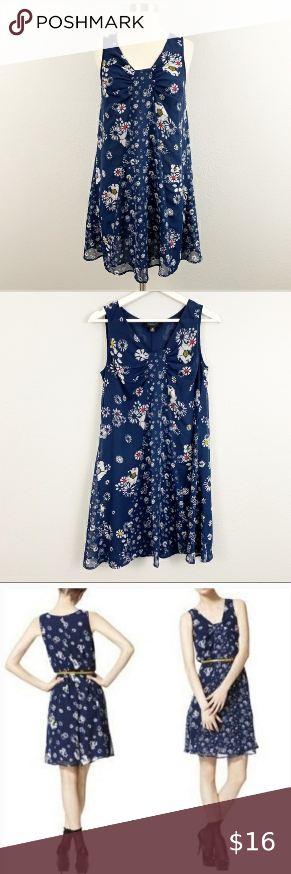 Jason Wu For Target Blue Floral Dress Floral Blue Dress Sleeveless Chiffon Dress Dress Size Chart Women [ 1740 x 580 Pixel ]