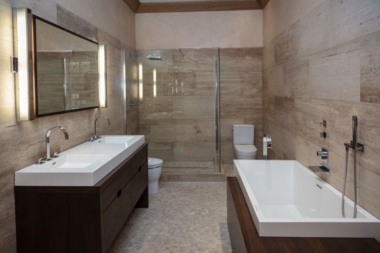 Carrelage travertin salle de bain et comment le choisir pour plus de - percer carrelage salle de bain