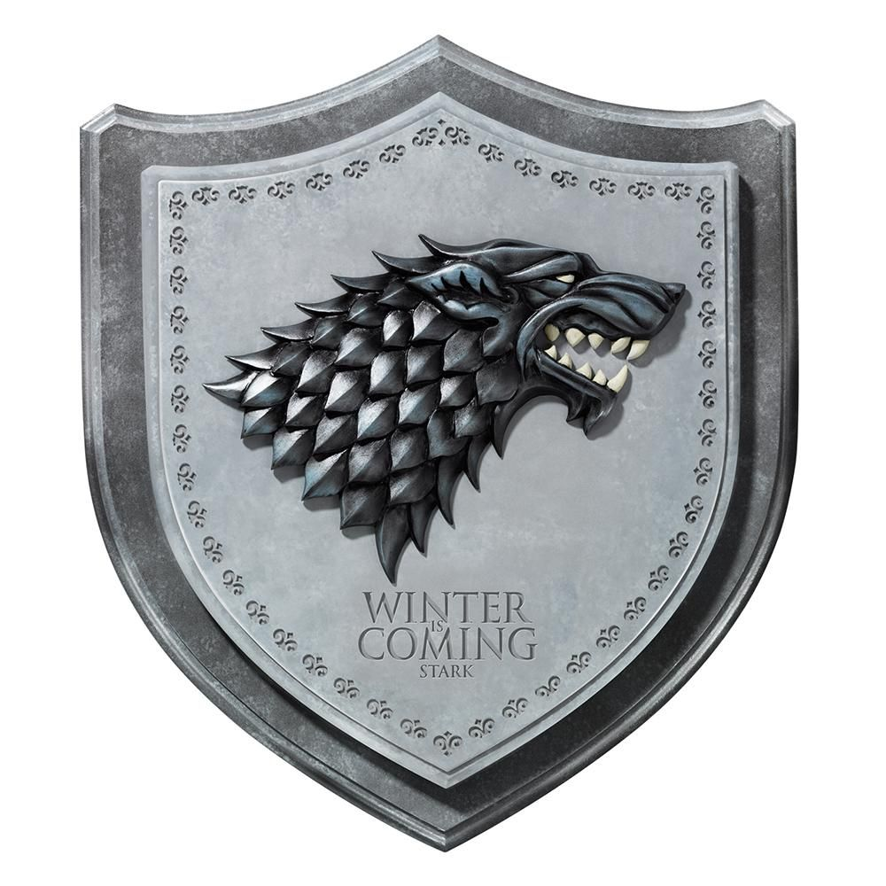 Stark House Sigil Wall Plaque From Game Of Thrones Game Of Thrones Collectibles Game Of Thrones Houses House Sigil