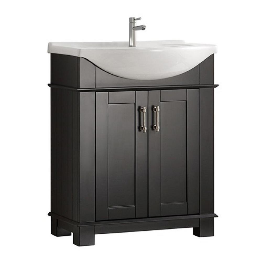 Fresca Hudson 30 In W Traditional Bathroom Vanity In Black With
