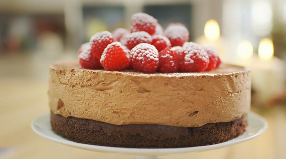 mary berry celebration chocolate mousse cake recipe on mary berry s absolute christmas. Black Bedroom Furniture Sets. Home Design Ideas