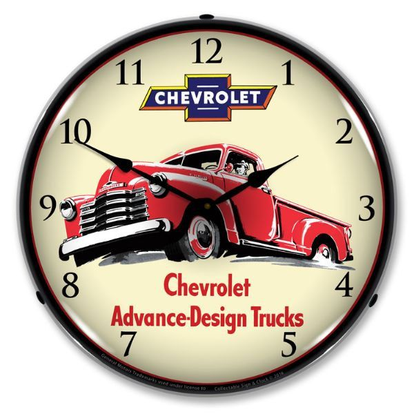 1953 Chevrolet Pickup Truck 14 Backlit Lighted Sign Clock Vintage Style Retro Auto Gas Oil Garage Art Free Shipping By Home Trucks Chevy Trucks Classic Trucks