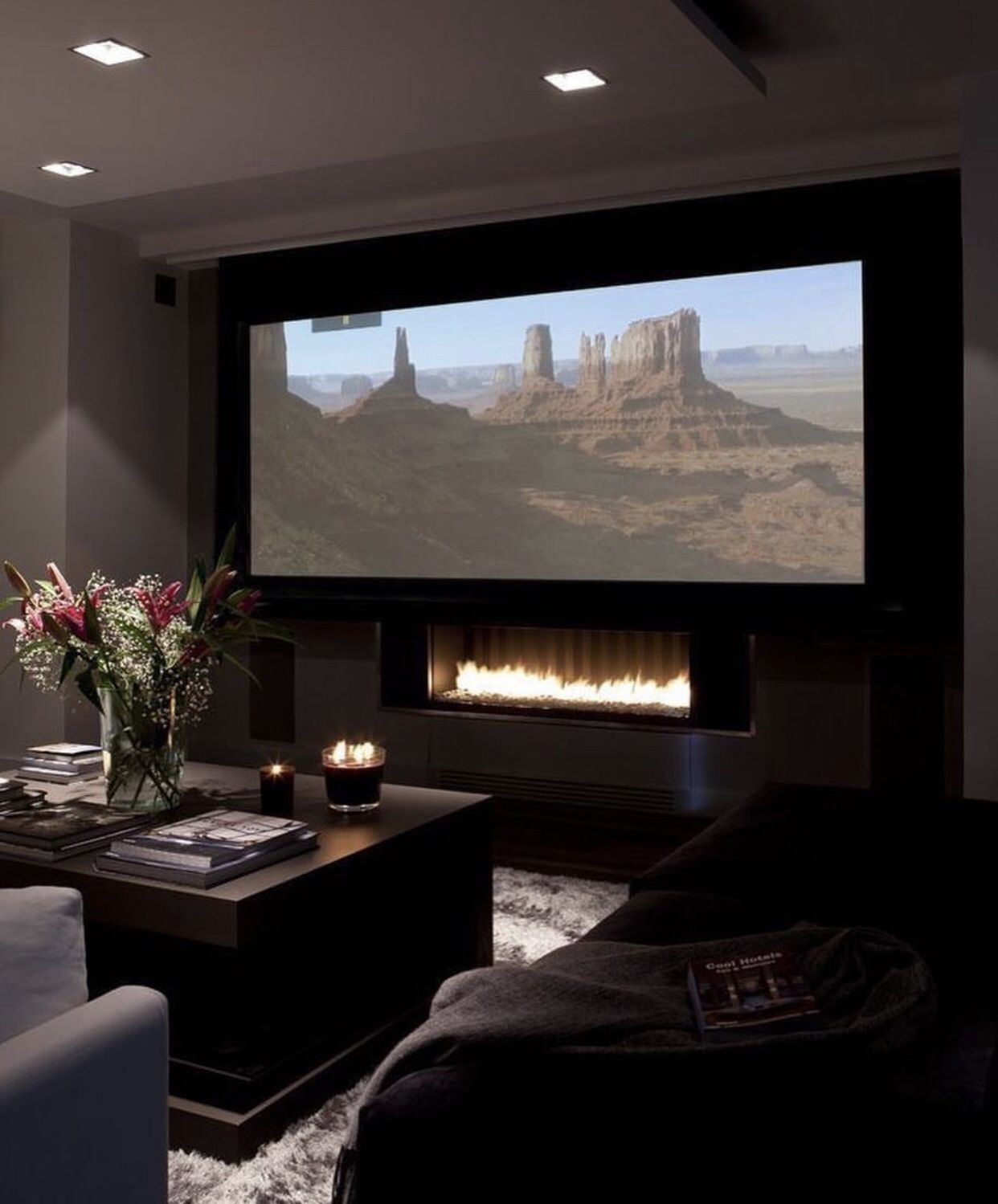 Cozy Home Theater: Home Theater Rooms, Small Home