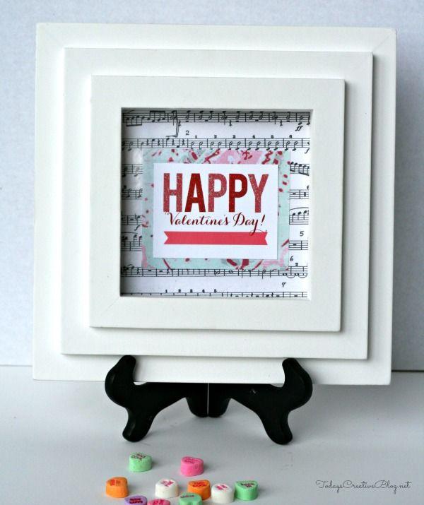 Tiny Prints Framed Valentines Day Card DIY blog post