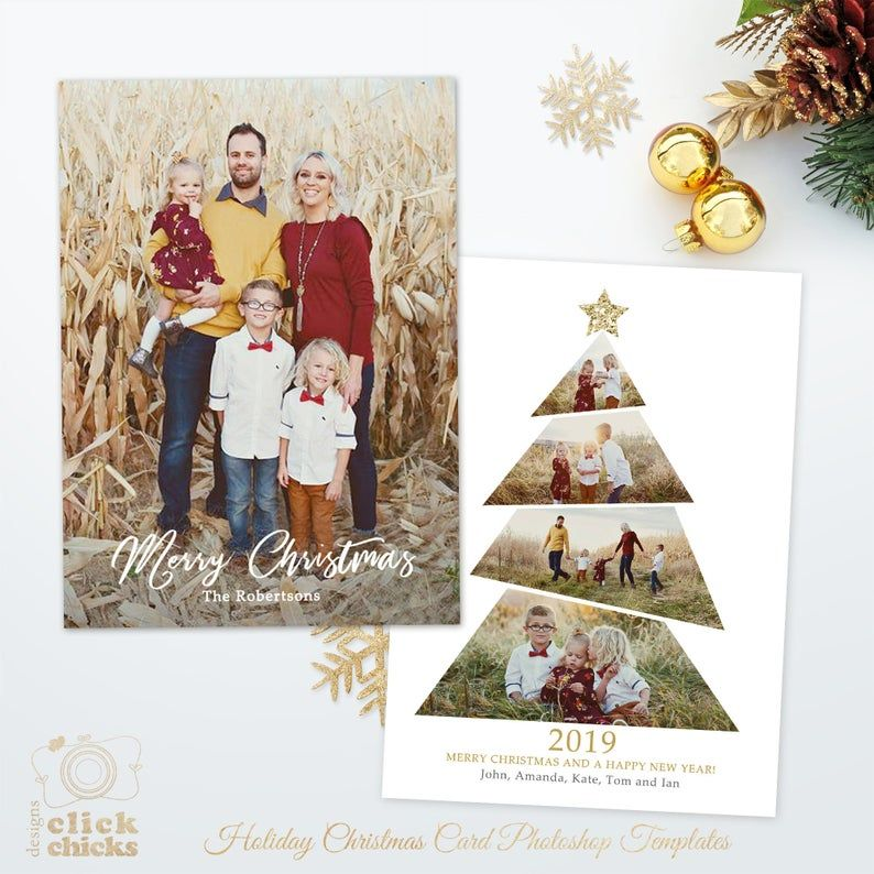 Christmas Card Template For Photographers And Personal Use Etsy In 2021 Christmas Card Template Diy Photo Christmas Cards Holiday Card Template