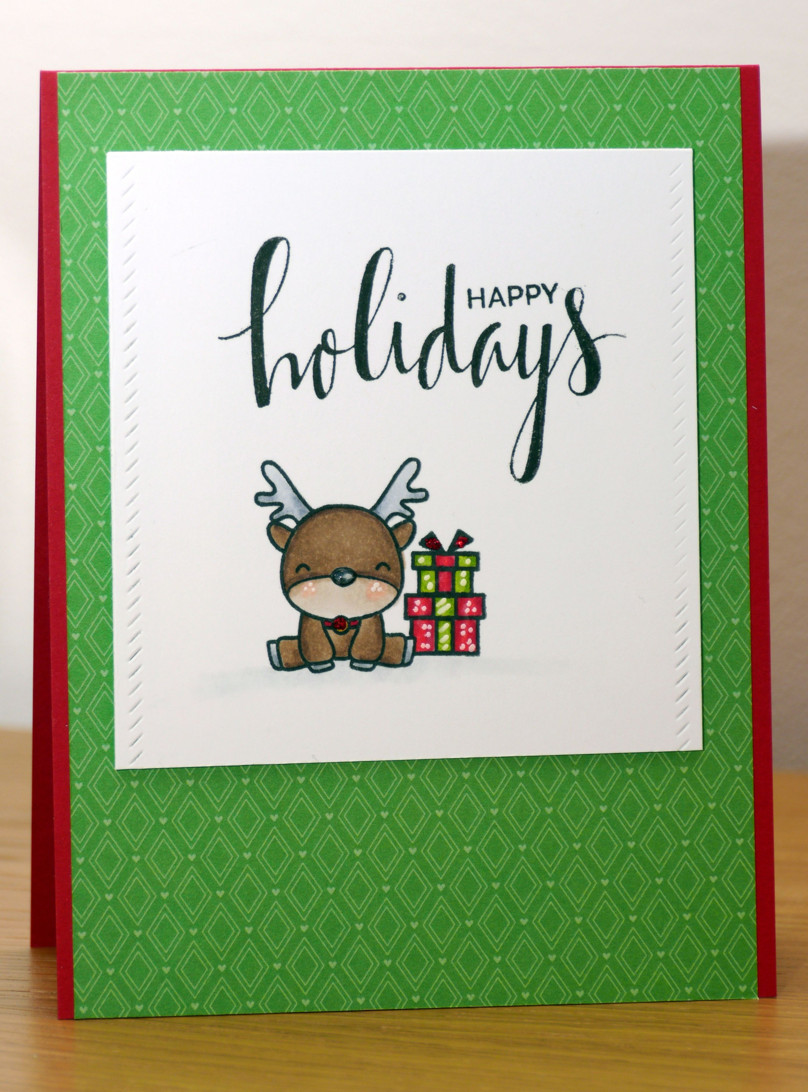 mama elephant reindeer games and my favorite things hand