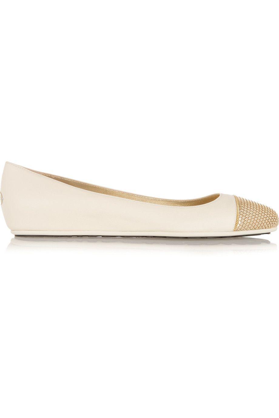 62ccbaa2f JIMMY CHOO Waine Embellished Leather Wedge Ballet Flats. #jimmychoo #shoes # flats