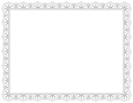 An Award Certificate Border In Silver. Free Downloads At Http://pageborders.  Free Printable Certificate Border Templates