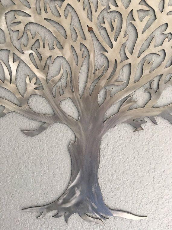Metal Tree Stainless Steel Tree Wall Art Wall Decor Metal Tree