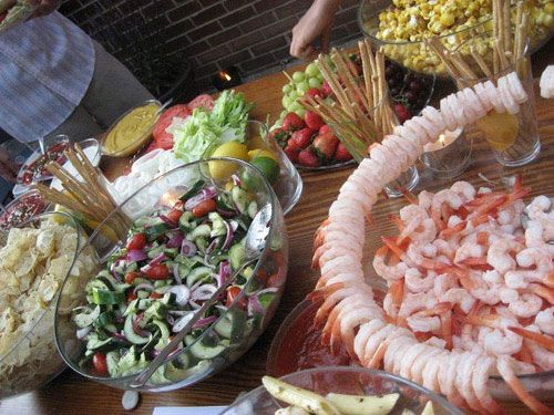 Backyard Party Menu Ideas backyard clambake party Backyard Upscale Casual Wedding Food Diy Self Catered Party Great Idea For Easy Prep And