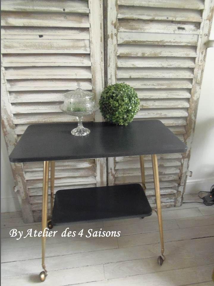 desserte vintage par l 39 atelierdes4saisons meuble. Black Bedroom Furniture Sets. Home Design Ideas