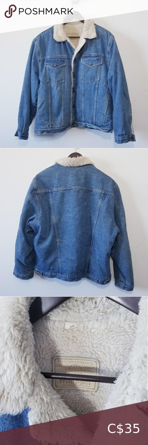 Vintage Wrangler Sherpa Denim Jacket Mens 44r L Vintage Wrangler Sherpa Lined Jacket Men S Size 44 Sherpa Denim Jacket Mens Denim Jacket Sherpa Denim Jacket [ 1740 x 580 Pixel ]