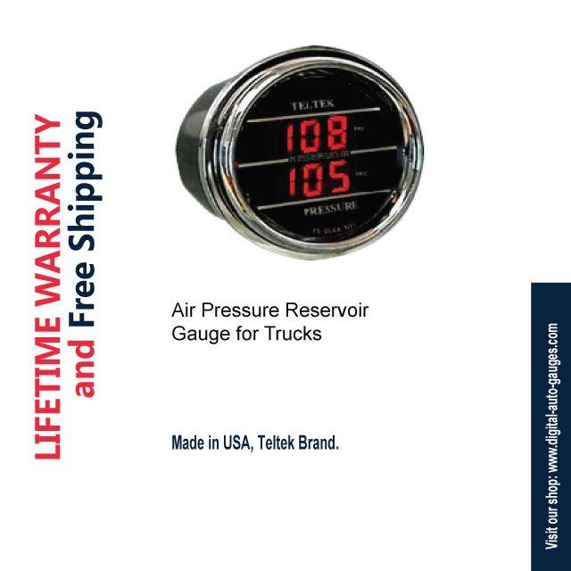 Teltek Load Air Pressure and Turbo Boost Gauge for Kenworth 2005 or previous