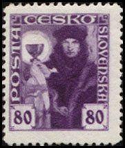 Znaczek: Hussite priest (Czechosłowacja) (Hussite) Mi:CS 181