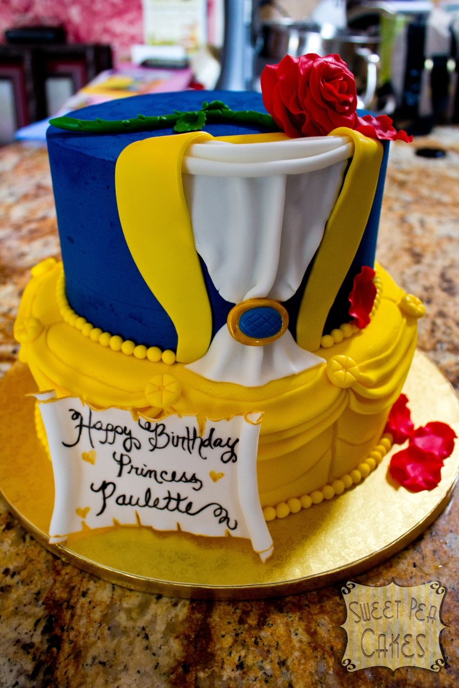 Beauty And The Beast Birthday Cakes Pinterest