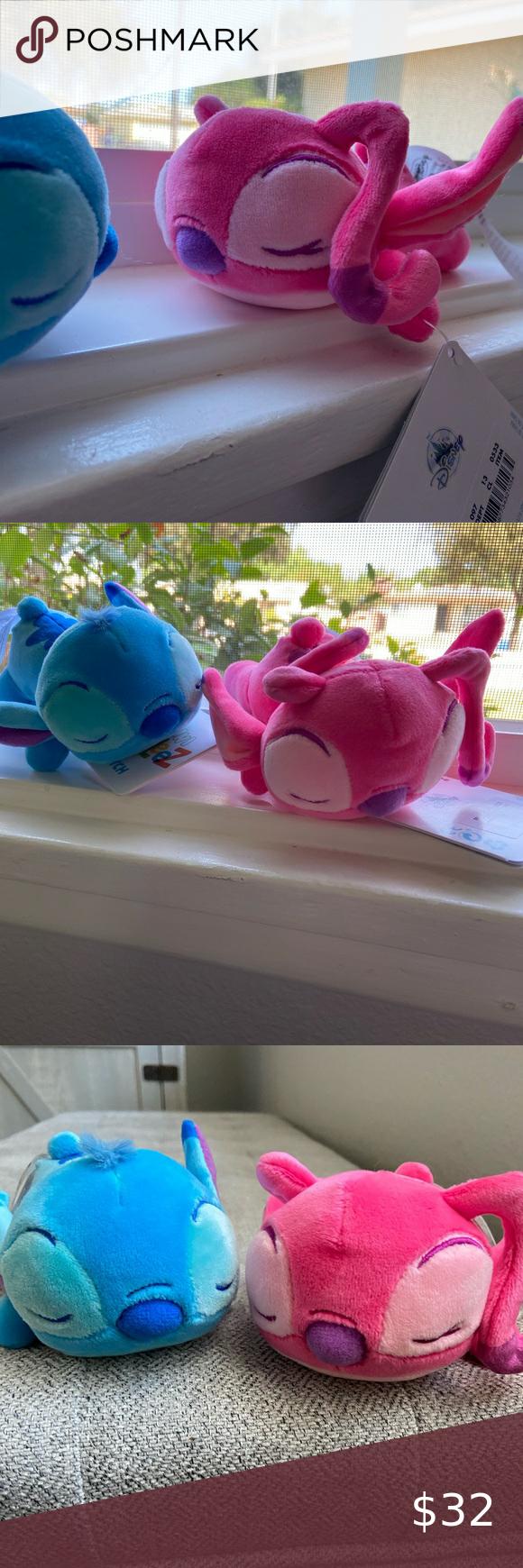 """Disney Lilo and Stitch Angel /& Stitch SET Mini Cuddleez 6""""  Plush New with Tags"""