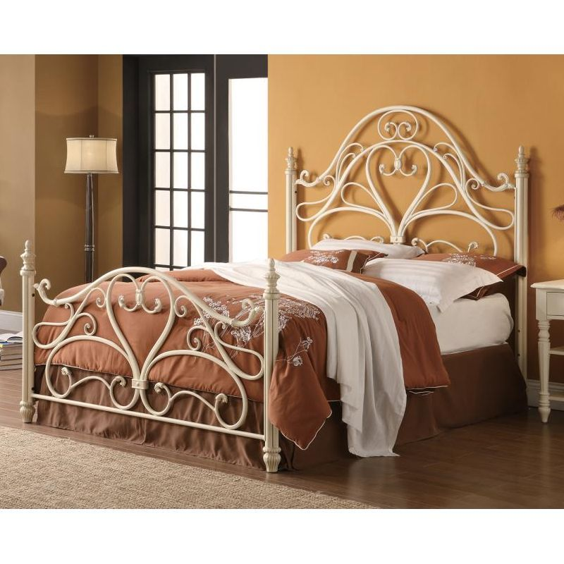 Metal Beds Queen Bed White With Images Bed Frame And