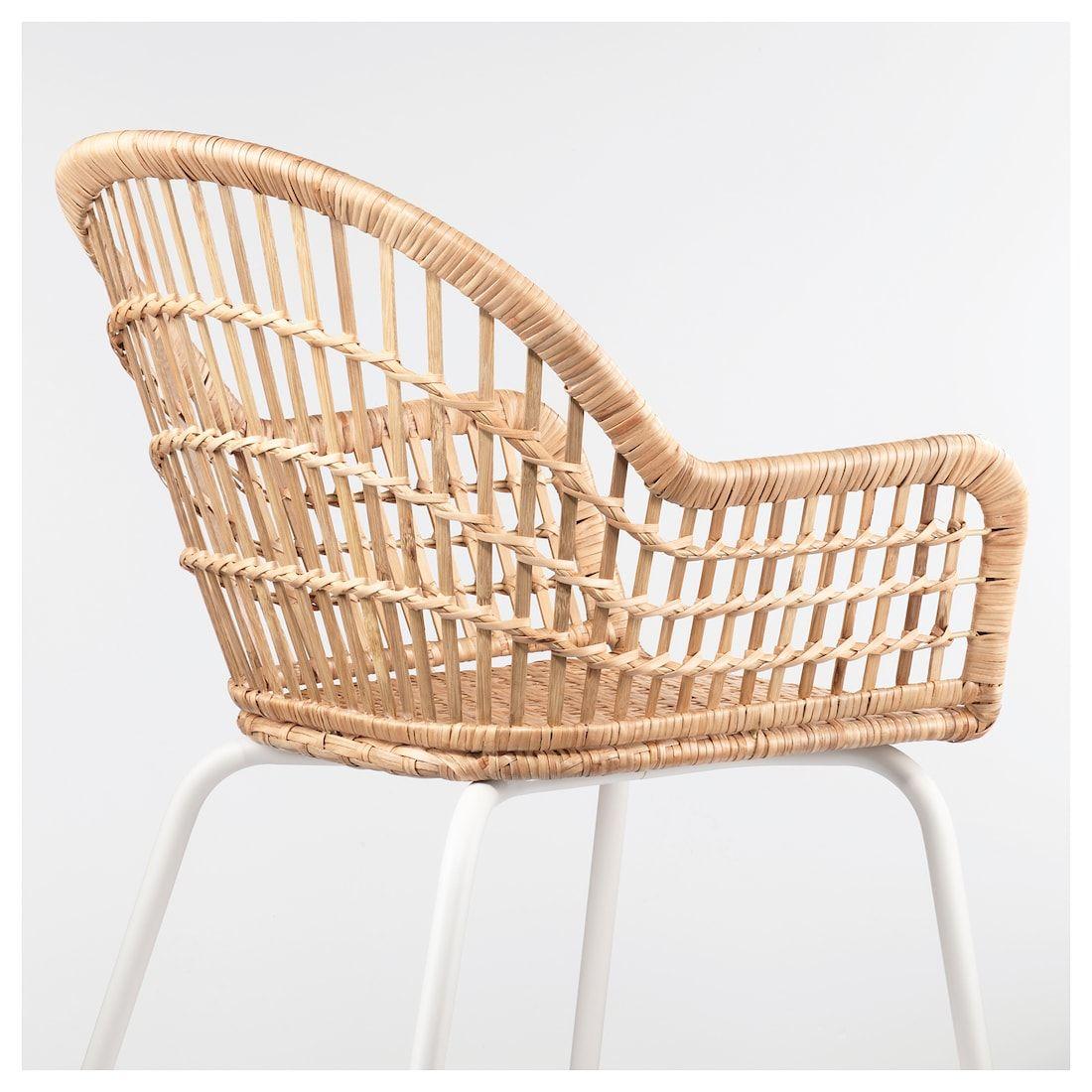 NILSOVE Armchair rattan, white Rattan, Chair, Ikea