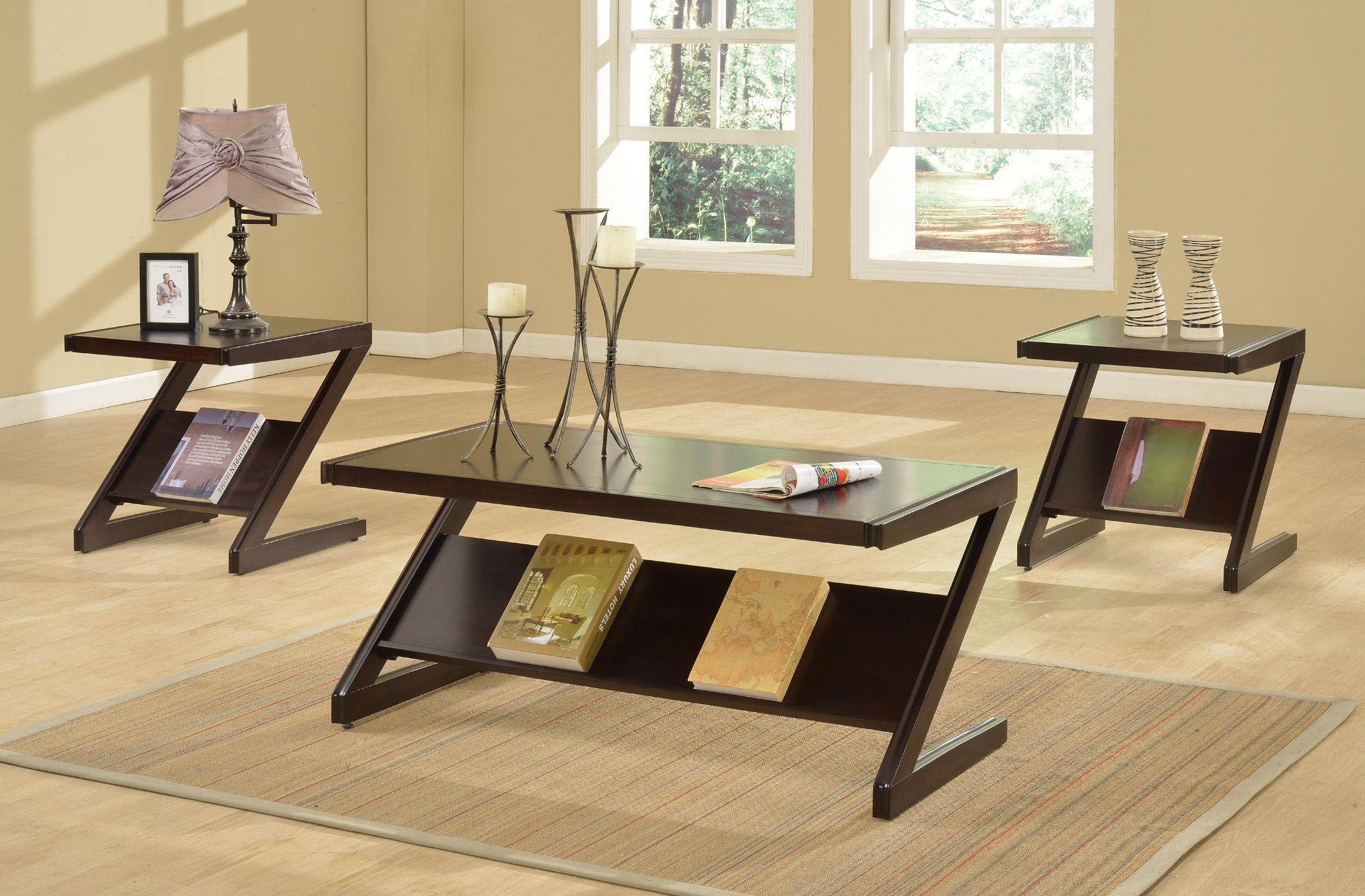 Room · Zachary 3 Piece Table Set Coffee ...