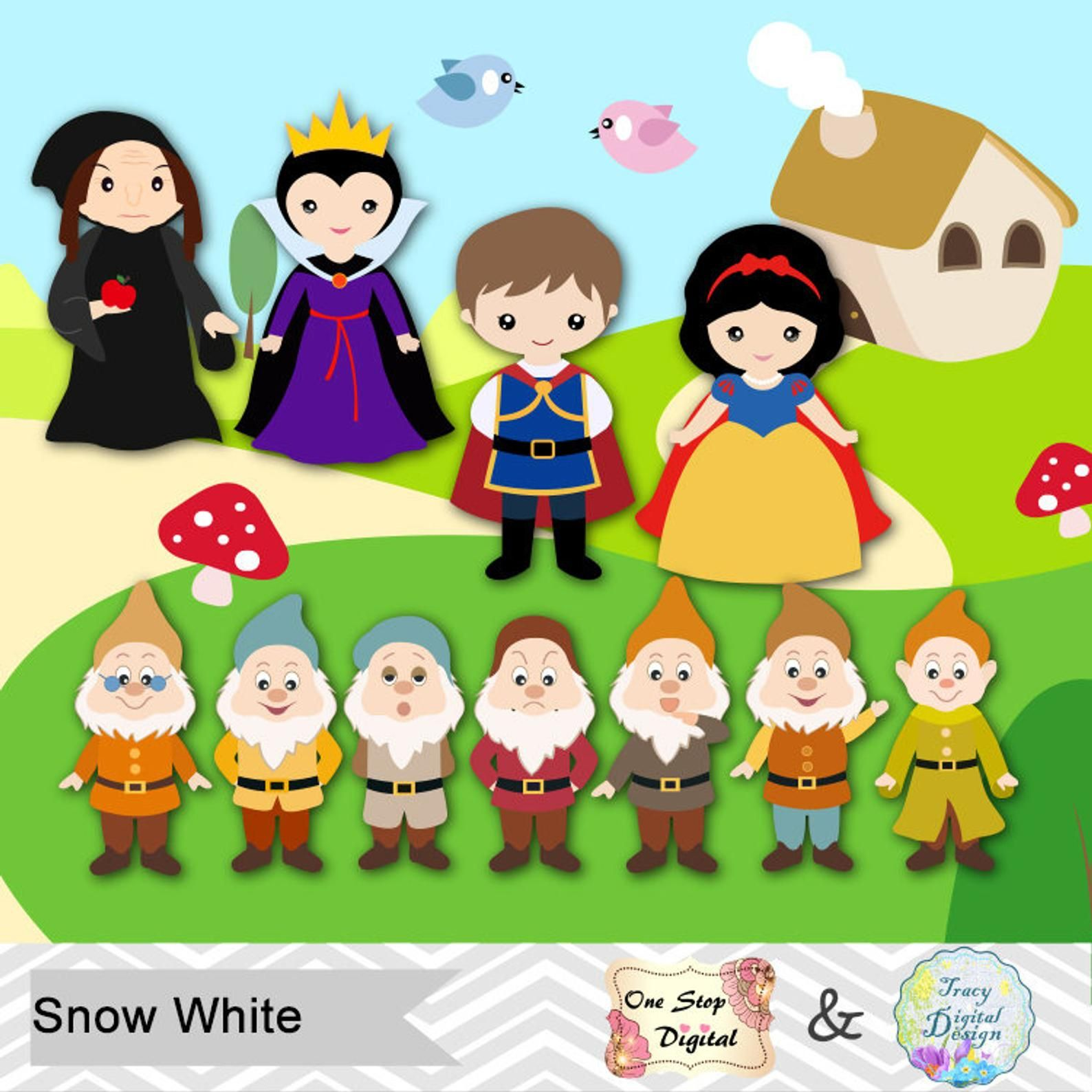 32+ Snow white clipart images info