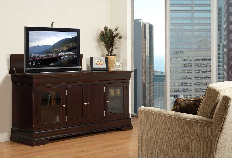 almira fine furniture tv lift console