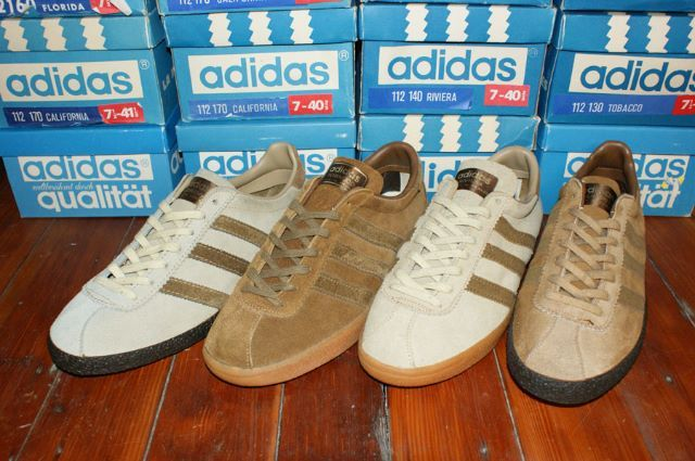 online store b6577 dd3ab In the early 1970s Adidas started to produce leisure shoes. California,  Florida, Tobacco and Riviera are from Adidas first leisure shoe range.