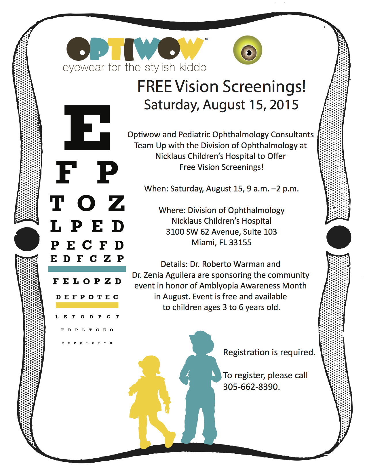 Optiwow To Offer Free Vision Screenings For Kids Aged 3 6