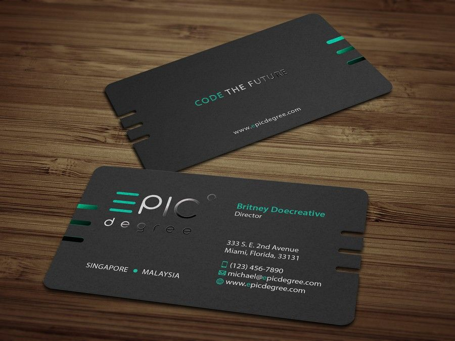 Create A Sharp And Modern Business Card For A Coding Academy By