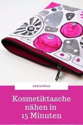 Photo of In no time: Make a cosmetic bag in 15 minutes Make a cosmetic bag in 1 … …