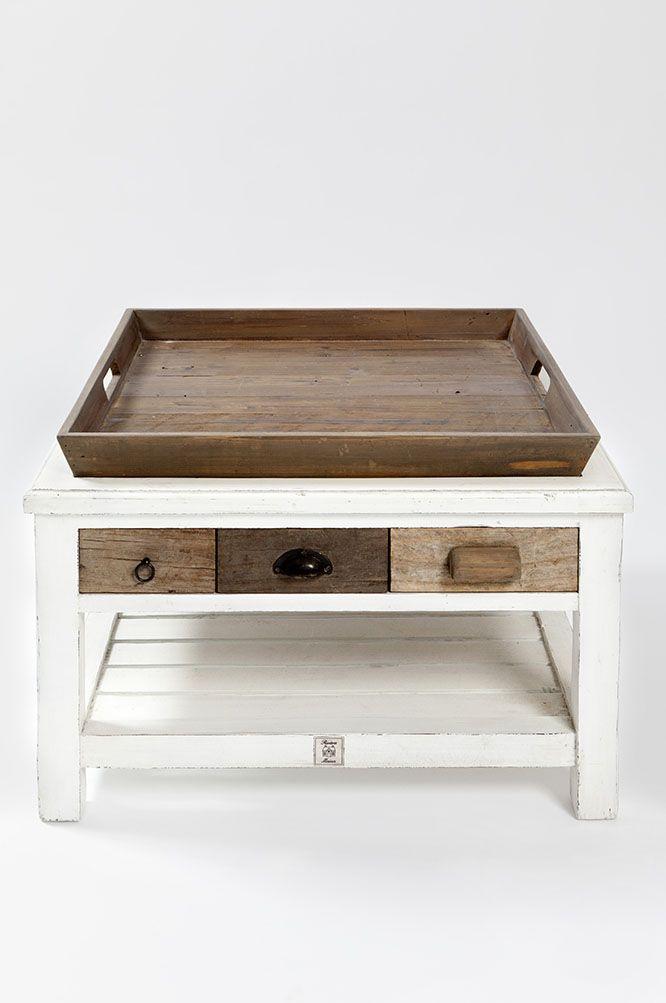 der hampton island coffeetable 70x70 von rivi ra maison. Black Bedroom Furniture Sets. Home Design Ideas