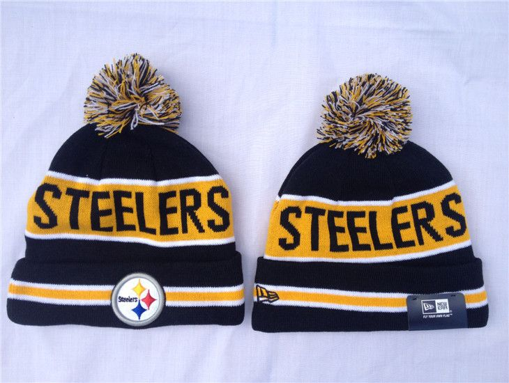 33be640a49313 NFL New Era Pittsburgh Steelers Beanies Knit Hats Black 1409760! Only   7.90USD