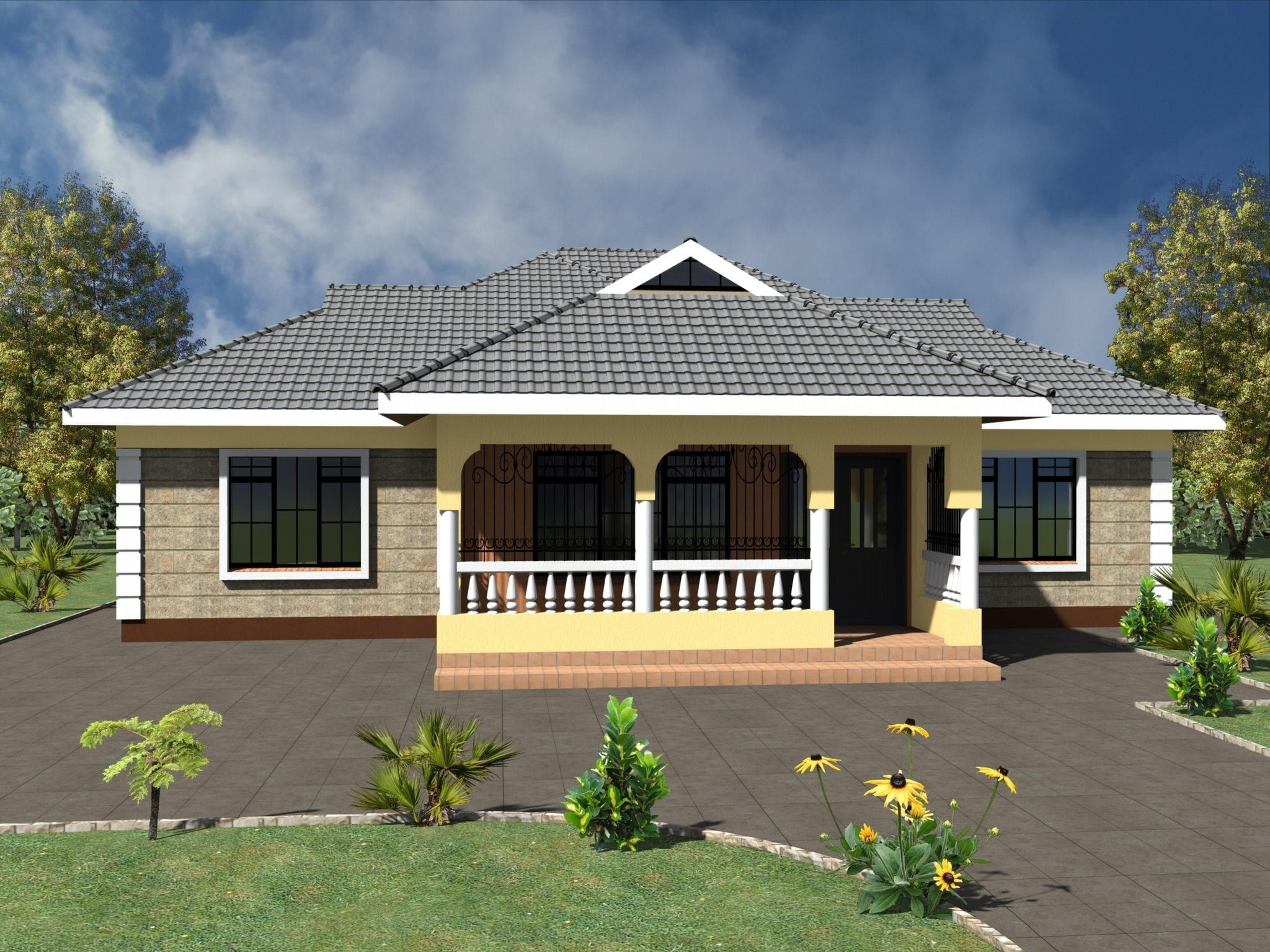 Simple 3 Bedroom House Plans Without Garage Hpd Consult In 2020 Three Bedroom House Plan Bedroom House Plans House Plan Gallery