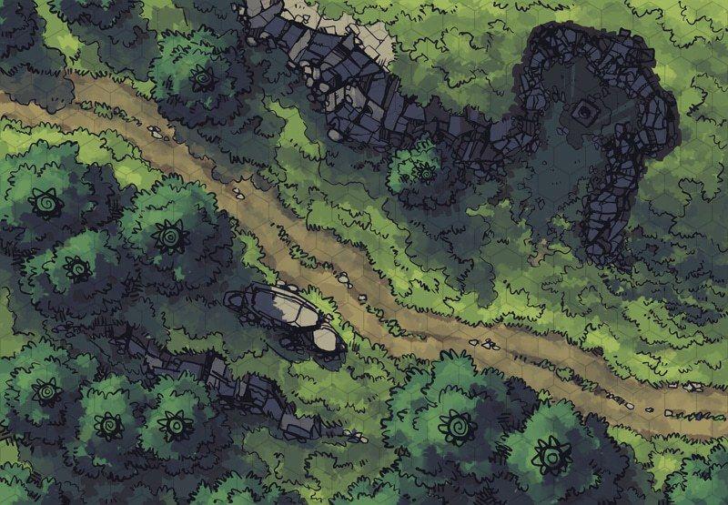 hillside altar maps in