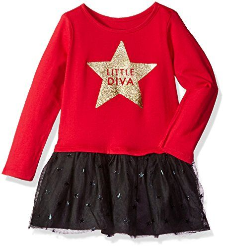 aea08af7e The Childrens Place Little Girls and Toddler Long Sleeve Jersey Tutu ...
